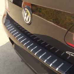 Nakładka z zagięciem na zderzak (stal + folia karbonowa) Ford Explorer 2012+