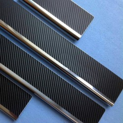Nakładki progowe (stal + folia karbonowa) Hyundai Solaris