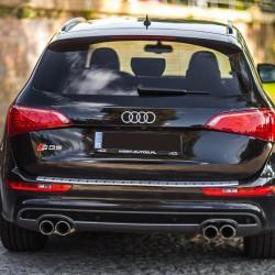 Nakładka z zagięciem na zderzak (stal) Lexus GS III