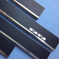 Nakładki progowe (stal + folia karbonowa) Mitsubishi Pajero Sport