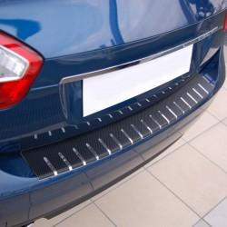 Nakładka z zagięciem na zderzak (stal + folia karbonowa) Nissan Qashqai +2
