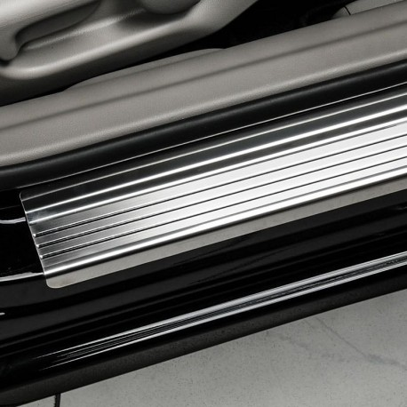 Nakładki progowe (stal + poliuretan) Peugeot 1007