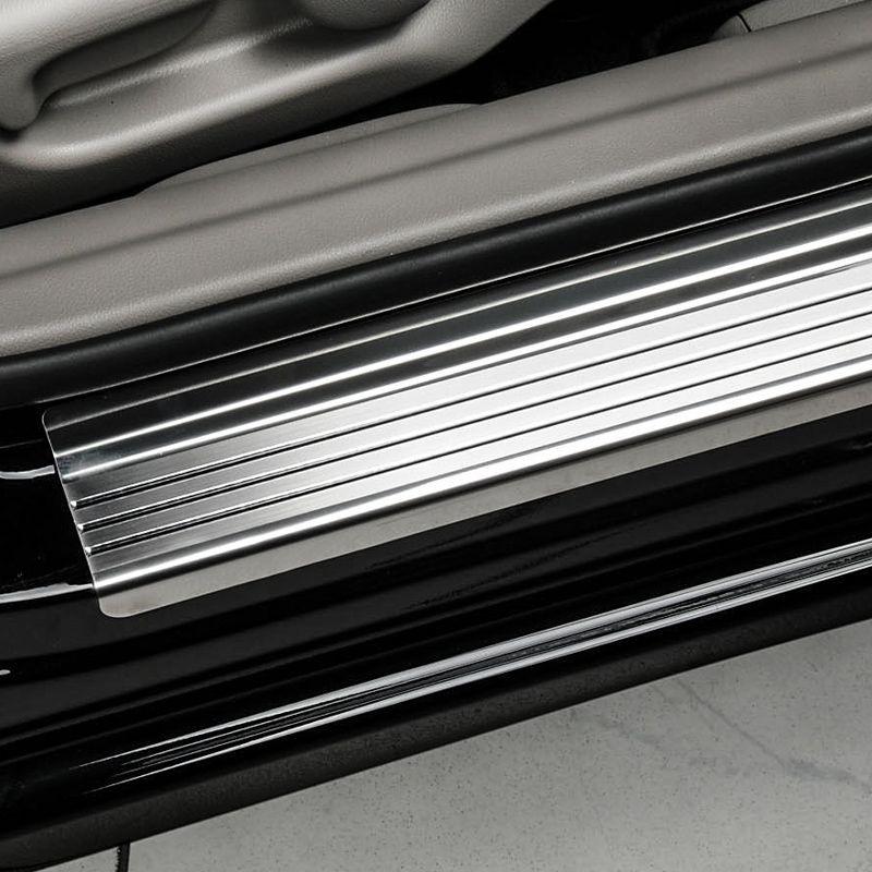 Nakładki progowe (stal + poliuretan) Peugeot 407
