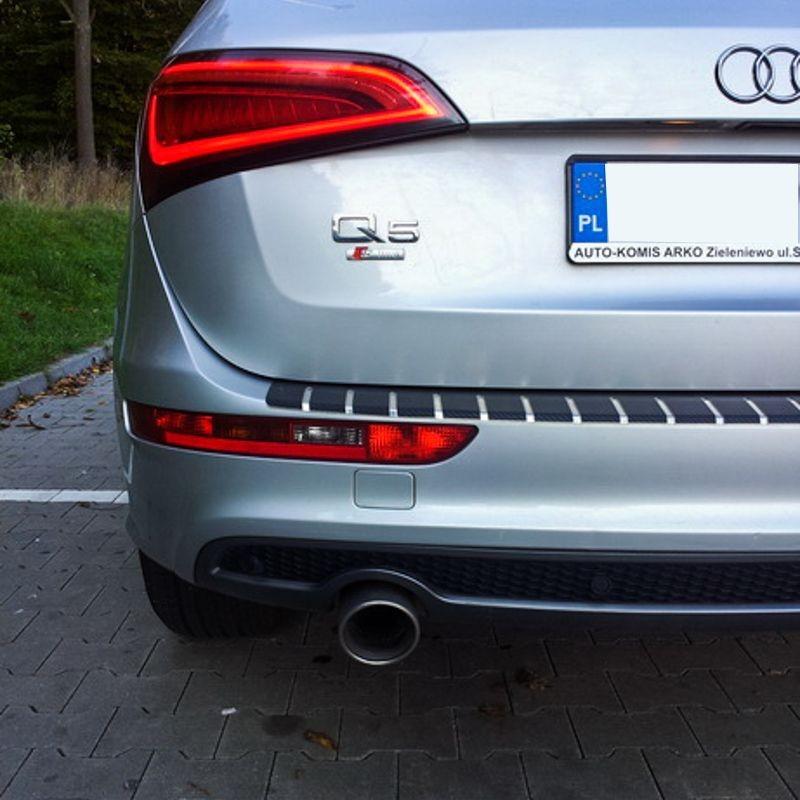 Nakładka z zagięciem na zderzak (stal + folia karbonowa) Peugeot 5008