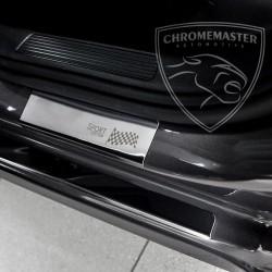 Nakładki progowe Chrome + grawer Alfa Romeo 147