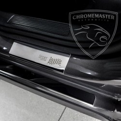 Nakładki progowe Chrome + grawer Alfa Romeo 156