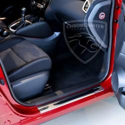 Nakładki progowe Chrome + grawer Audi A6 C6